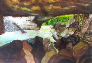 Brian McInnerney natural bridge oil on canvas