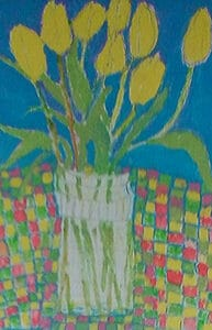 Brian McInnerney tulips Watercolour