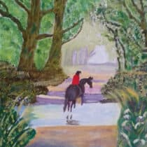 Bridie Smith Silvan Peace oil painting