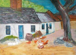 Kathleen OBrien Feeding Time Oil painting