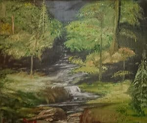 Monica Boud Forest Scene Oil Painting